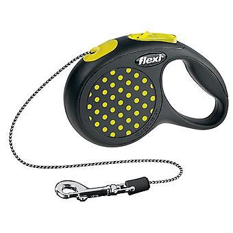 Flexi Design Cord gelber Punkt Extra Small 8kg - 3m (10ft)