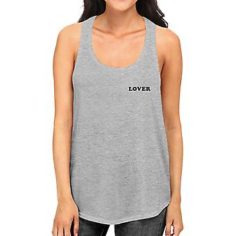 Lover Women's Racerback Tank Top Simple Typography Cute Gift Ideas