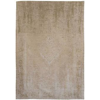 Distressed Beige Cream Medallion Flatweave Rug 280 x 360 - Louis de Poortere