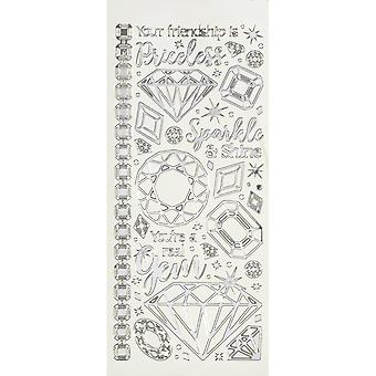 Dazzles Stickers-Gems & Jewels-Silver DAZ-2579