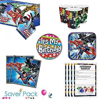 Justice League Party Tableware Saver Pack