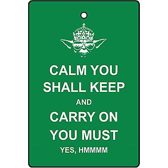 Keep Calm Yoda Car Air Freshener