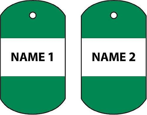 Personalised Nigeria Dog Tag Car Air Freshener