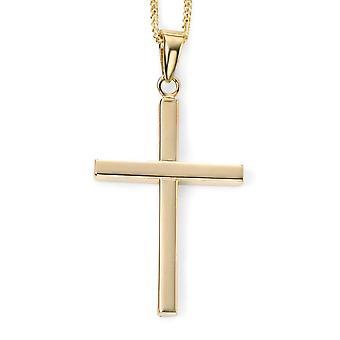Collana Croce in oro 9 ct
