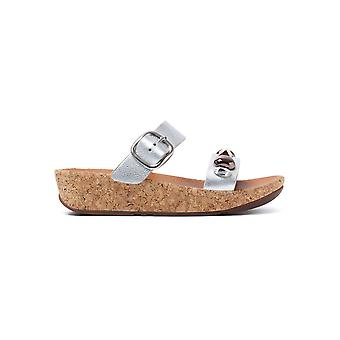 FitFlop Women's Jeweley Slide Sandals - Silver