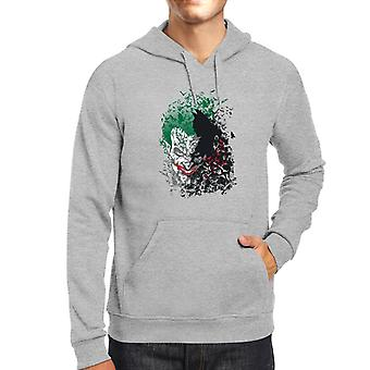 Batman Dark Knight Arkham Bats Joker Men's Hooded Sweatshirt