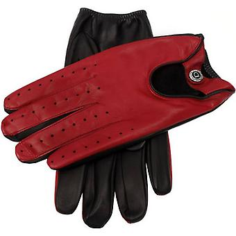 Dents Woburn Hairsheep Leather Gloves - Black/Fireball