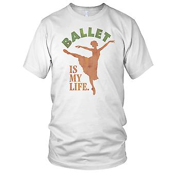 Ballet Is My Life Ladies T Shirt