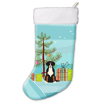 Merry Christmas Tree größere Swiss Mountain Dog Christmas Stocking