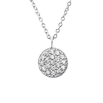 Round - 925 Sterling Silver Jewelled Necklaces - W19817x