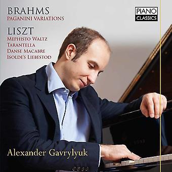Brahms / Liszt / Gavrylyuk, Alexander - Paganini variationer - Piano Works [CD] USA import
