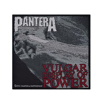 Pantera Vulgar Display Of Power tessuto Patch