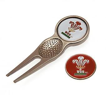 Wales R.U. Divot verktyg & markör