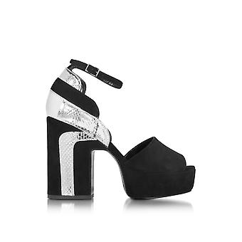 Pierre Hardy ladies LL02 silver/black leather sandals