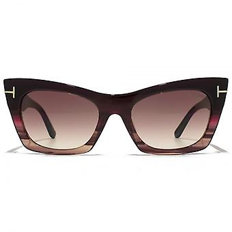 Tom Ford Kasia Sunglasses In Bordeaux