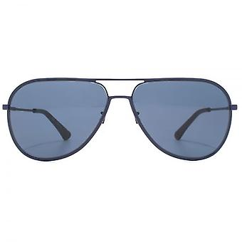 Police Highway Two Pilot Sunglasses In Matte Blue