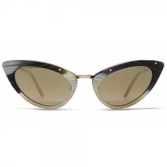 Tom Ford Grace Sunglasses In Coloured Horn