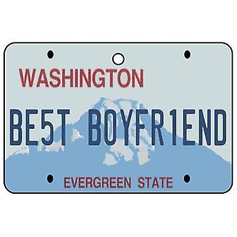 Washington - Best Boyfriend License Plate Car Air Freshener