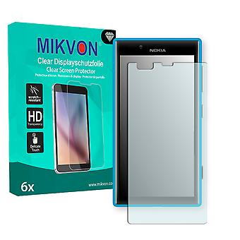 Nokia Lumia 720 Screen Protector - Mikvon Clear (Retail Package with accessories) (intentionally smaller than the display due to its curved surface)