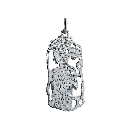 Silver 33x17mm Libra Zodiac Pendant