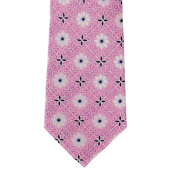 Michelsons of London Tile Medallion Silk Tie - Pink