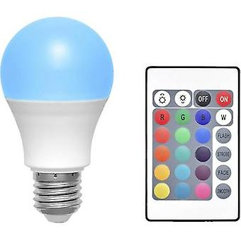 Basetech LED E27 Arbitrary 6 W RGBW (Ø x L) 60 mm x 108 mm EEC: A colour-changing, dimmable, incl. remote control 1 pc(