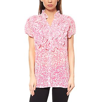 vivance collection blouse women's ruffle blouse pink
