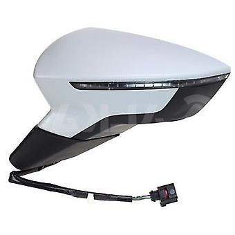 Left Mirror (electric heated indicator primed cover) for Seat LEON 2012-2017