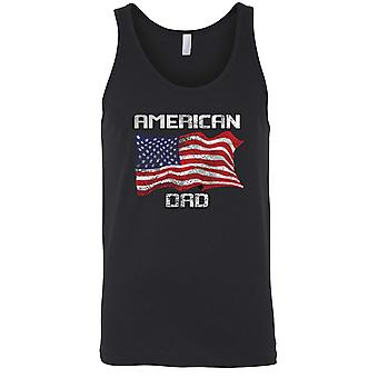 American Dad USA Flagge Tanktop Herrenhemd
