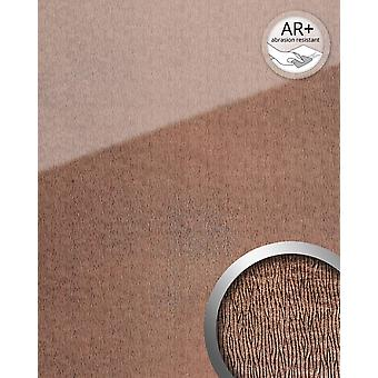 Wall Panel glass optics WallFace 20216 CURVED Rose AR + wall smooth leather reflecting adhesive abrasion resistant pink bronze 2.6 m2