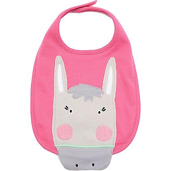 Joules Girls Yumyum Animal Character Cotton Baby Bib