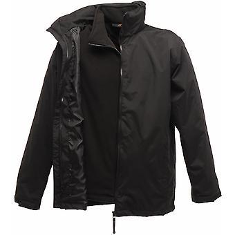 Regatta Mens Classic 3 in 1 Adjustable Cuffs Waterproof Jacket TRA150 Black