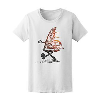 Fast-Food Pizza lustige T-Shirt Frauen-Bild von Shutterstock