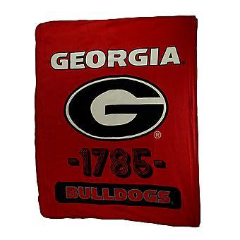 Retro Georgia Bulldogs Plush Micro Raschel Throw Blanket