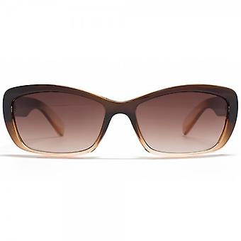 STORM Arete Flared Sunglasses In Two Tone Brown