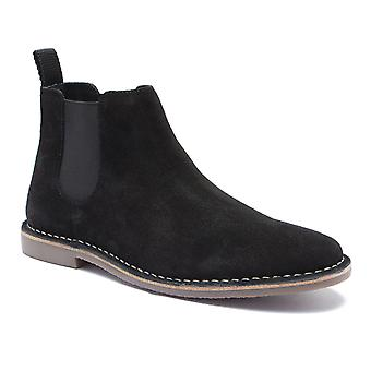 Red Tape Arizona Black Suede Classic Chelsea Boots