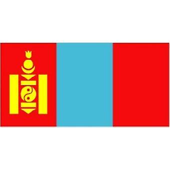 Mongolia flagg 5 ft x 3 ft med hull For hengende