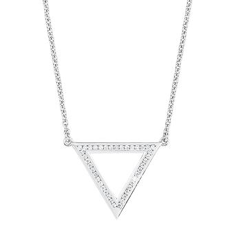 s.Oliver jewel ladies chain necklace silver Zyrkonia triangle 2012498