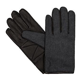 LLOYD mens gloves gloves felt antique Sheepskin black 6449