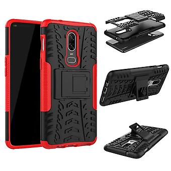 For OnePlus 6 six hybrid case 2 piece SWL outdoor red pouch bag sleeve cover protection