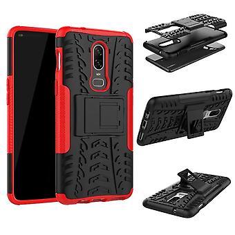 For OnePlus 6 seks hybrid sag 2 stykke SWL udendørs røde pose taske ærme dække beskyttelse