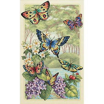Goud collectie Butterfly Bos geteld Cross Stitch Kit-10