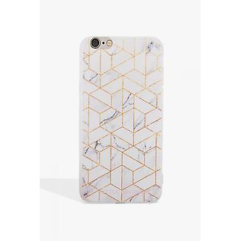 Little Mistress Accessories Grey And Gold Marbled Phone Case Iphone 7