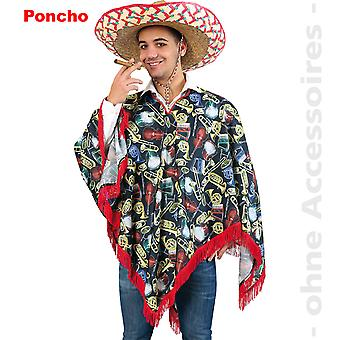 Music poncho Schlager instruments costume Cape unisex