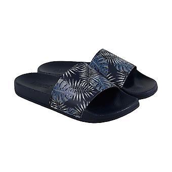 Kenneth Cole Reaction Design 2112692 MRS8SY005 Mens Blue Slides Sandals Shoes