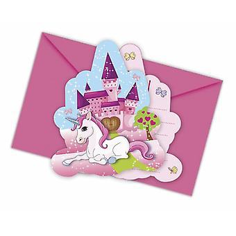 Unicorn Unicorn party invitation cards 6 piece children birthday theme party