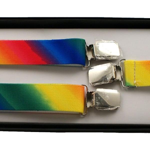 Union Jack Wear Adjustable Rainbow Braces