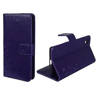 Flores de cubierta protectora para el teléfono móvil violeta Sony Xperia XA