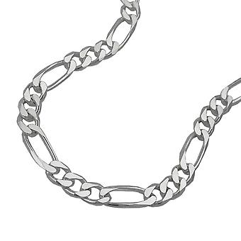Chain 5mm Figaro flat Silver 925 50cm