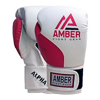 Amber Fight Gear Alpha Series Pro Style Boxing Kickboxing Muay Thai MMA Training Bag Sparring Gloves